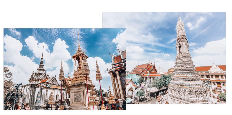 Bangkok - Tempelansicht Grand Palace und Wat Pho